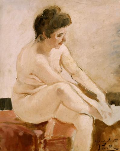 Seated Nude by Joaquin Sorolla y Bastida