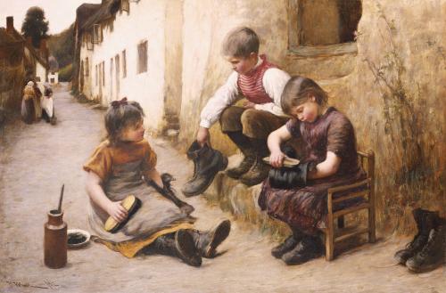 Daddy's Boots, 1892 by John White