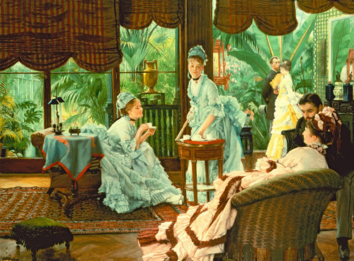 In The Conservatory (The Rivals), 1875 by James Jacques Joseph Tissot