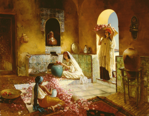 The Gathering Of Roses by Rudolf Ernst