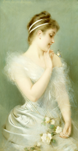 The Butterfly by Pierre Carrier-Belleuse