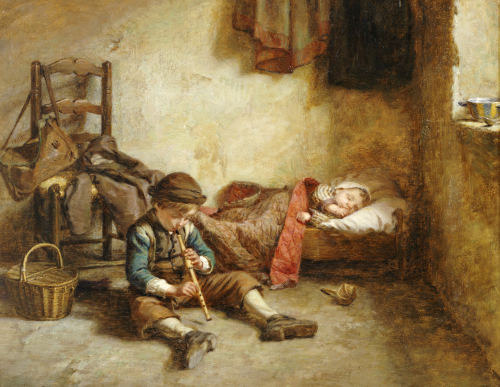 The Lullaby, 1874 by Pierre Edouardo Frere