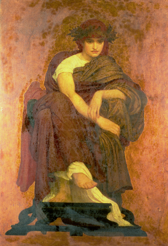 Mnemosyne, The Mother Of The Muses by Lord Frederic Leighton