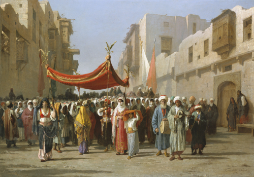 An Arab Wedding Procession, 1888 by Vincenzo Marinelli