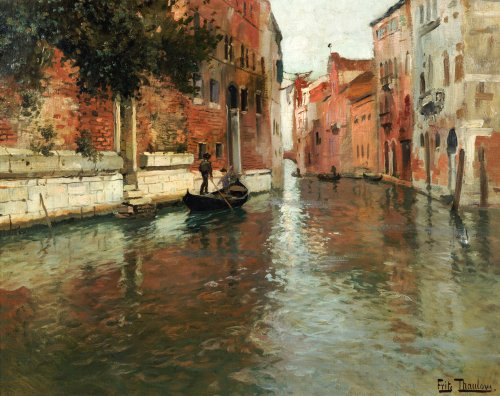 A Venetian Backwater by Fritz Thaulow