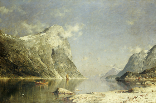 A Fjord Scene by Adelsteen Normann