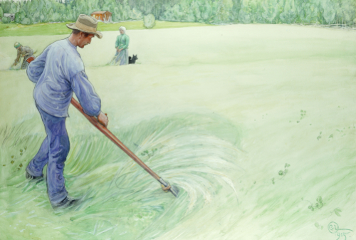 Harvesters, 1915 by Carl Larsson