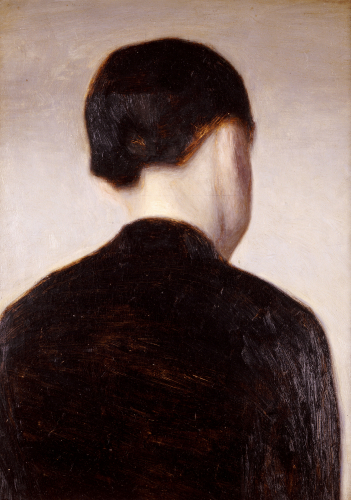 A Girl From Behind, Half Length, C. 1884 by Vilhelm Hammershoi