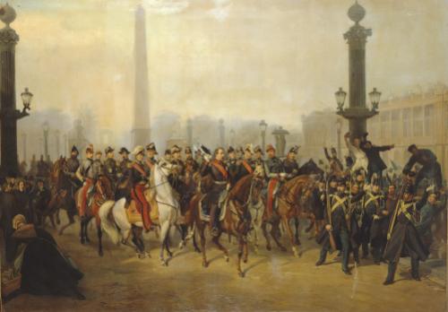 Napoleon With Staff In Place De La Concorde, Paris by Victor Philippe Auguste de Joncquieres