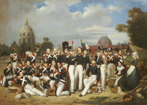 Company of the Second Legion, in the Champ de Mars, Paris, 1836 by Auguste Antoine Masse