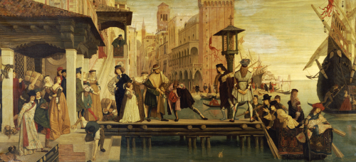 The Departure Of The Prodigal Child From Venice, 1863 by James Jacques Joseph Tissot