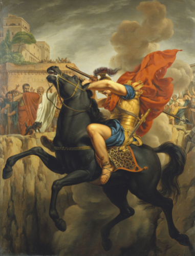 The Death Of Marcus Curtius by Pierre Joseph Celestin Francois
