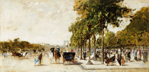 Les Champs Elysees, Paris, 1894 by Luigi Aloys-François-Joseph Loir