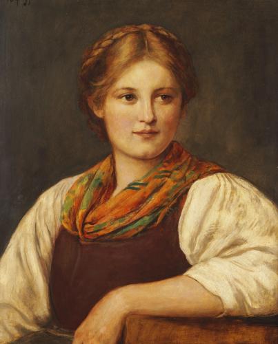 A Bavarian Peasant Girl by Franz Von Defregger
