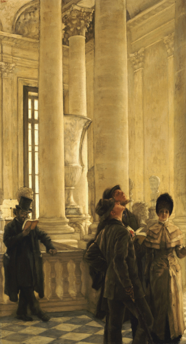 The North Stairs At The Louvre by James Jacques Joseph Tissot