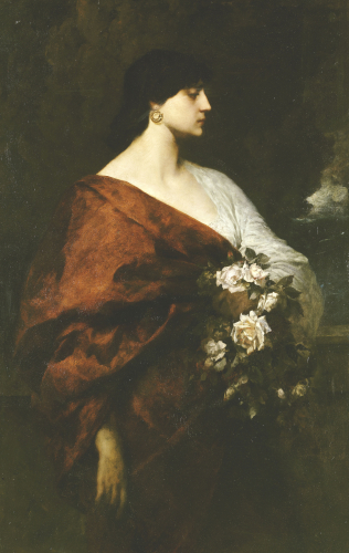 A Dark Beauty by Ferdinand Keller