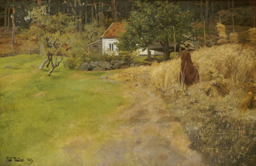 Haymaking, Stord, 1889 by Fritz Thaulow