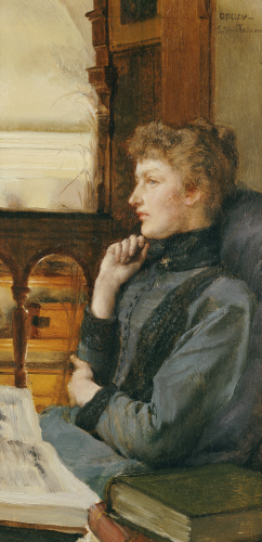 Far Away Thoughts, 1890 by Sir Lawrence Alma-Tadema