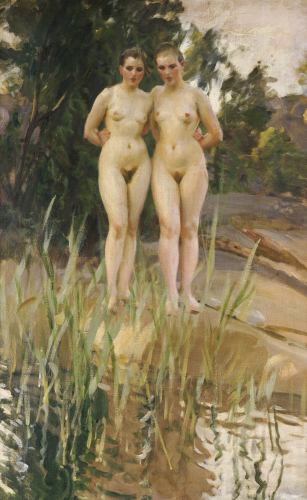 Two Friends by Anders Leonard Zorn