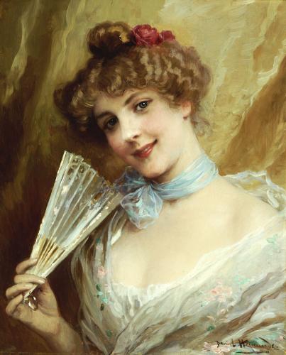 Lady With A Fan by Daniel Hernandez