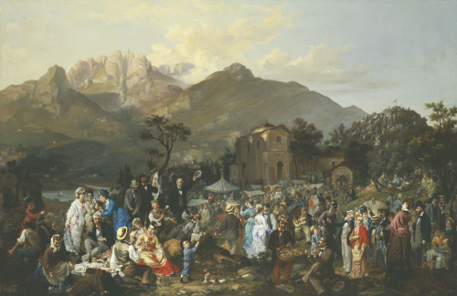 Country Fair, 1878 by Casimiro Radice