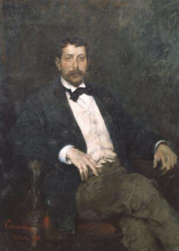 Portrait Of Italian Composer Giacomo Puccini (1858-1924) by Umberto Veruda