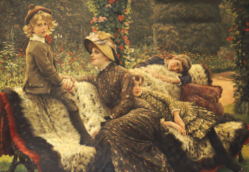 The Garden Bench, 1882 by James Jacques Joseph Tissot