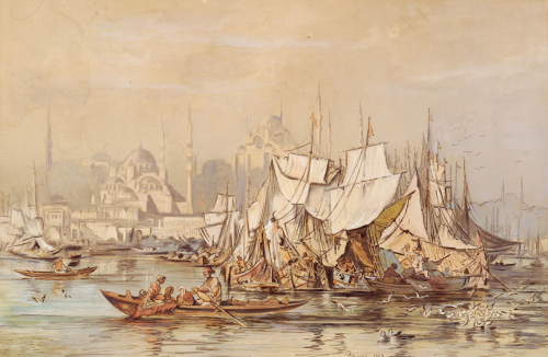 Constantinople, 1858 by Amadeo Preziosi