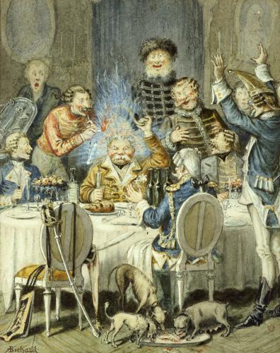 Illustration For The Adventures Of Baron Munchausen (II) by Alphonse Adolf Bichard