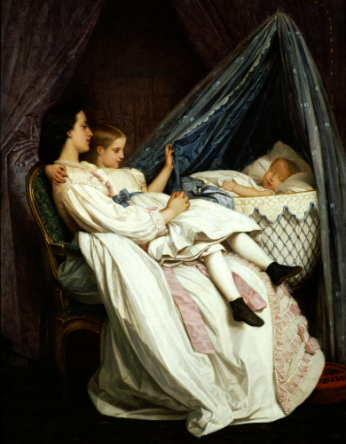 The New Arrival by Auguste Toulmouche