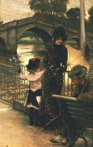 The Artist, Mrs Kathleen Newton And Her Niece Lillian Hervey, 1878 by James Jacques Joseph Tissot