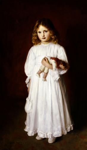 A Portrait Of Dorothy by Edwin Harris