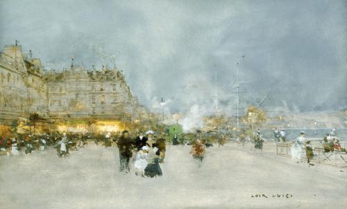 Evening Promenade by Luigi Aloys-François-Joseph Loir