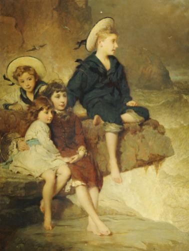 The Children Of Sir H. Hussey Vivian, 1883 by George Elgar Hicks