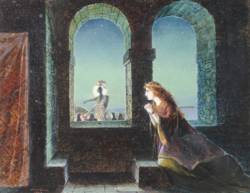 Guinevere by John Atkinson Grimshaw