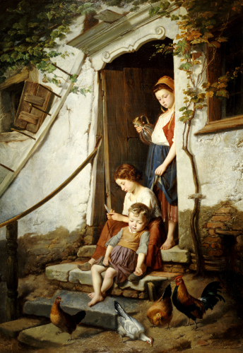 The Cottage Steps, 1861 by Theodore Gerard