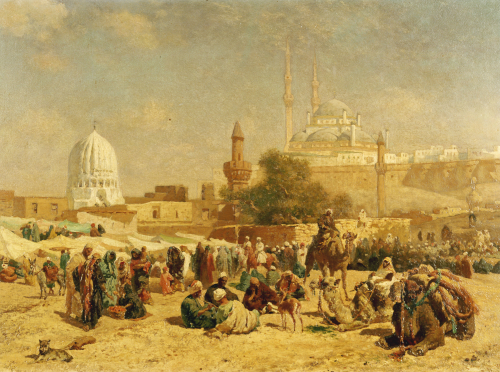 Outside Cairo, 1883 by Cesare Biseo