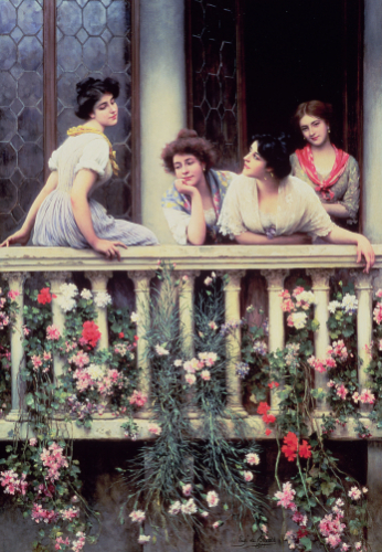 The Balcony, 1911 by Eugene von Blaas