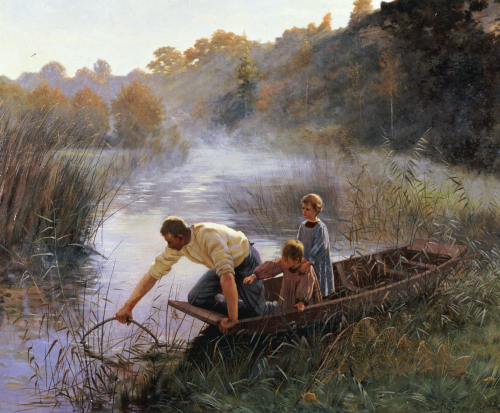 The Fisherman's Family by Pierre Andre Brouillet