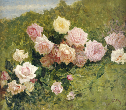 A Study Of Roses by Luigi Rossi