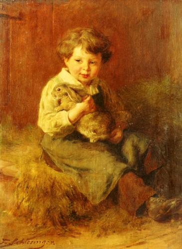 The Pet Rabbit by Felix Schlesinger