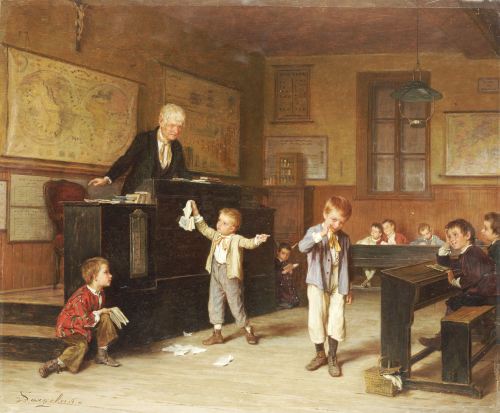 The School Room by Andre Henri Dargelas