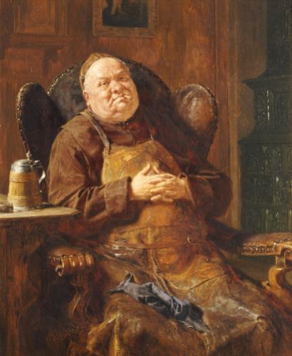 A Quiet Smoke, 1895 by Eduard Von Grutzner