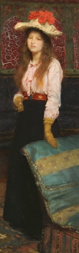 Portrait Of Miss MacWirter, Small Full Length In An Interior, 1888 by Sir Lawrence Alma-Tadema