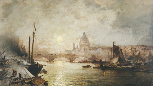 The Pool Of London by Franz Richard Unterberger