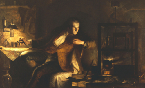 James Watt With The Newcomen Engine by James Eckford Lauder