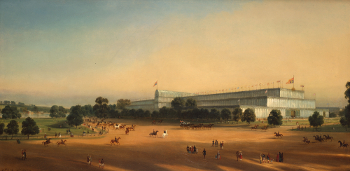 Crystal Palace During The Great Exhibition Of 1851 by P Le Bihan