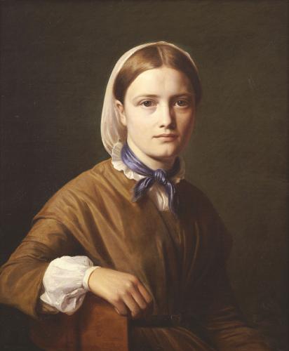 Portrait Of Christiane Kobke by Constantin Hansen