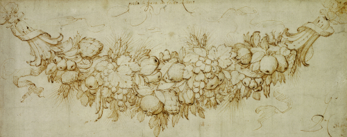 A Swag Of Harvest Fruit by Peter Paul Rubens