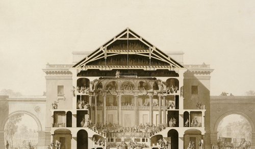 Cross-Section Of The Front Section Of The Theatre by Francois Belanger